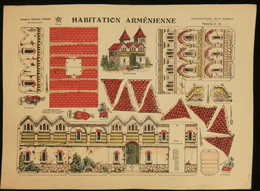 ( Enfantina Découpage Arménie ) HABITATION ARMÉNIENNE  Imagerie Marcel VAGNÉ JARVILLE NANCY Planche N°18 - Collections