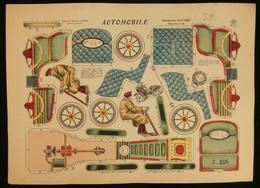 ( Enfantina Découpage Diorama ) AUTOMOBILE Imagerie Marcel VAGNÉ JARVILLE NANCY Planche N°38 - Collections