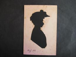K4    Scherenschnitt  Frau 1906 - Silhouette - Scissor-type