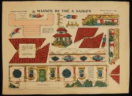 ( Enfantina Découpage Indochine ) MAISON DE THÉ A SAÏGON Imagerie Marcel VAGNÉ JARVILLE NANCY Planche N°36 - Collections