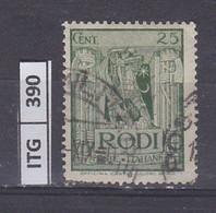 ITALIA      1929 ITALIA RODI 25 C Usato - Zonder Classificatie