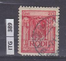 ITALIA      1929 ITALIA RODI 20 C Usato - Zonder Classificatie