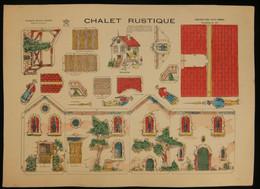 ( Enfantina Découpage Diorama ) CHALET RUSTIQUE Imagerie Marcel VAGNÉ JARVILLE NANCY Planche N°42 - Collections