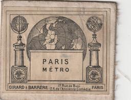 Plan Paris Metro Par Girard & Barrere 17 Rue De Buci ,17 R De L'ancienne Comedie Paris - Altri