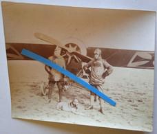 1915 Focker Eindecker Pilote Stidel Observateur Luppin Observation Chasse Aviation Mascotte Tranchée Poilu Photo Ww1 - War, Military