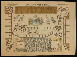 ( Enfantina Découpage Napoléon ) BATAILLE DU PONT D'ARCOLE  Imagerie Marcel VAGNÉ JARVILLE NANCY Planche N°56 - Collections