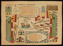 ( Enfantina Découpage Chine ) JONQUE CHINOISE  Imagerie Marcel VAGNÉ JARVILLE NANCY Planche N°61 - Collections