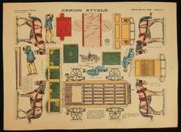 ( Enfantina Découpage Cheval ) CAMION ATTELÉ  Imagerie Marcel VAGNÉ JARVILLE NANCY Planche N°65 - Collections