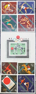134A. MONGOLIA 1964 SET/8 STAMP +  M/S SPORTS, OLYMPIC GAMES. MNH. - Mongolei