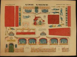 ( Enfantina Découpage Diorama) UNE USINE   Imagerie Marcel VAGNÉ JARVILLE NANCY Planche N°67 - Collections