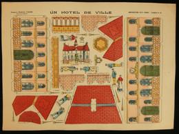 ( Enfantina Découpage Diorama) UN HOTEL DE VILLE   Imagerie Marcel VAGNÉ JARVILLE NANCY Planche N°68 - Collections