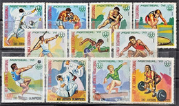 134A. GUINEA ECUATORIAL 1976 SET/11 STAMPS SPORTS, MONTREAL OLYMPIC GAMES. MNH. - Mongolei