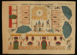 ( Enfantina Découpage Diorama) JEANNE D'ARC BLESSÉ DEVANT PARIS   Imagerie Marcel VAGNÉ JARVILLE NANCY Planche N°69 - Collections