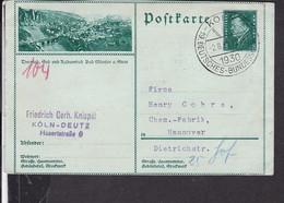 """Ganzsache Deutsches Reich Bildpostkarte Bad Münster A. Stein Sonderstempel """" Köln Deutsches Bundesschiessen """" 1930 - Stamped Stationery"""