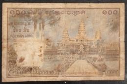 Indochina Indochine Vietnam Viet Nam Laos Cambodia 100 Piastres VF Banknote Note / Billet 1954 - Pick# 97 / 02 Photo - Indochina