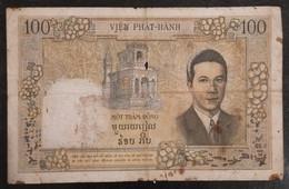 Indochina Indochine Vietnam Viet Nam Laos Cambodia 100 Piastres Good Banknote Note / Billet 1953 - Pick# 108 / 02 Photo - Indocina