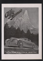 Pub Papier 1947 Automobile ALFA ROMEO Voiture Automobiles Milan Italie Dos  2 CV Robert De Rovin Tramways Bus VETRA - Advertising