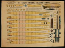 ( Enfantina Découpage Aérostation) BALLON DIRIGEABLE CLÉMENT-BAYARD  Imagerie Marcel VAGNÉ JARVILLE NANCY Planche N°78 - Collections