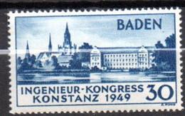 Allemagne Baden: Yvert N° 46* - French Zone