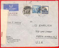 Aa2259 - PALESTINE - POSTAL HISTORY - Censored COVER To  USA  1940  Via CLIPPER - Palestine