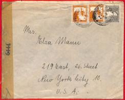 Aa2260 - PALESTINE - POSTAL HISTORY - Censored COVER To  USA  1944 - USA Censor - Palästina