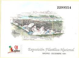 Spain 1991 Block 2105.1067 Exfilna'91 Madrid From Sketche By El Greco, Predara De San Isidro - 1991-00 Nuevos & Fijasellos