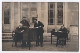 CARTE PHOTO GOY 15 RUE BOUTEILLE LYON : ÉCOLE PIGIER - LYON - PROFESSEURS A LEUR BUREAU - 2 SCANS - - Other
