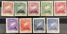 Monaco 1941-1942, Poste, N° 225 à 233, Magnifiques Timbres, Luxe, Sans Traces De Charnières - Ungebraucht