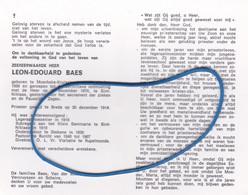DP Eerw. Hr. Leon-Edouard BAES Moerbeke-Kruisstraat 1889-1974 St.-Niklaas (St. Niklaas, Stekene, Burcht, Rupelmonde) - Religion & Esotericism