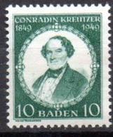 Allemagne Baden: Yvert N° 47* - French Zone