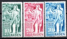 Allemagne Baden: Yvert N° 53/55* - French Zone