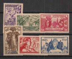 SPM - 1937 - N°Yv. 160 à 165 - Série Complète - Exposition Internationale - Neuf Luxe ** / MNH / Postfrisch - Unused Stamps