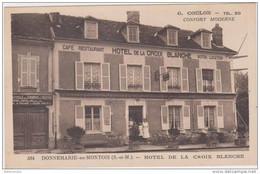 Cpa Menu 77 Donnemarie En Montois Hôtel De La Croix Blanche - Non Classificati
