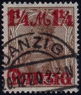 ✔️ Danzig Dantzig 1920 - Burelage Gris Vers Le Bas - Mi. 27 Type II - €120 - Dantzig