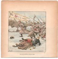 Loigny - Les Zouaves Pontificaux  Illustrateur LOUIS BOMBLED 1893 -  Militaire étendard Coeur De Jesus - 1801-1900