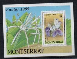MONTSERRAT - B/F - M/S - 1989 - FLEURS - FLOWERS - BLUMEN - OSTERN - EASTER - PAQUES - - Montserrat
