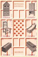Spain 1991 Wooden Furniture 6-block With Tabs  2105.1072 Pharmacy Closet, Chair, Crib, Juwelry Box, Trunk - 1991-00 Nuevos & Fijasellos