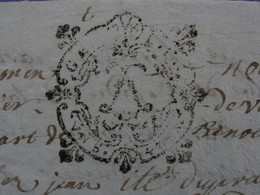 """1721 Généralité De LYON Papiers Timbrés N°163 De """"UN S. 4. DEN."""" TESTAMENT De M. Duprès - Seals Of Generality"""
