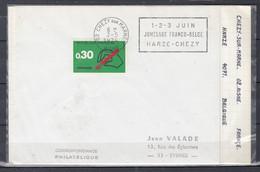Brief Van Chezy Sur Marne Aisne Naar Eysines 1-2-3- Juin Jumelage Franco Belge Harze-Chezy - Covers & Documents