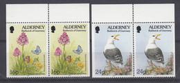 Alderney 1994 Fauna & Flora 2x2v From Booklet   ** Mnh (51954) - Alderney
