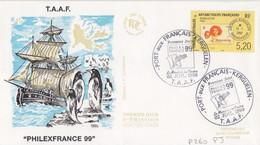 Kerguelen, FDC Du N° 260 (Kerguelen Le 12/1/50) Obl. Le 02 Juil. 99 (Philex France) - Lettres & Documents