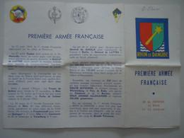 France 1944/5 - Rhin Et Danuble - Dépliant Reprenant L'épopée De La Première Armée Française - Sonstige