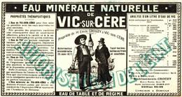 EAU MINERALE DE VIC SUR CERE - Pubblicitari