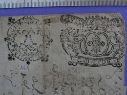 """1718 Généralité De LYON Papiers Timbrés N°151+n°161 De """"HUIT DEN."""" - Seals Of Generality"""