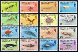 British Antarctic Territory (BAT) - 1984 - Marine Fauna - Mint Definitive Stamp Set - Unused Stamps