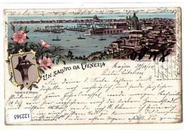 Litho Italien: Un Saluto Da Venezia, 2 Bilder, Gel. 30.12.1900 (Briefm.abgelöst) - Sin Clasificación