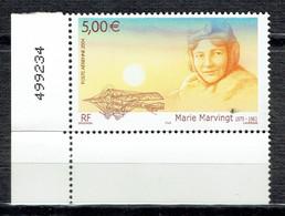Hommage à L'aviatrice Marie Marvingt - 1960-.... Mint/hinged