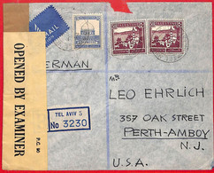 Aa2261 - PALESTINE - POSTAL HISTORY - Censored REGISTERED COVER To  USA  1944 - Palästina