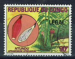 "Congo (Brazzaville), 90f, Fruit Ntundu Surchargé ""LEGAL"", 1998, Obl, TB - Mint/hinged"