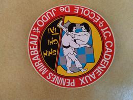 AUTOCOLLANT STICKER - ECOLE DE JUDO J.C. CADENEAUX – PENNES MIRABEAU – SHIN GHI TAI – ARTS MARTIAUX – SPORT – CLUB SPORT - Stickers